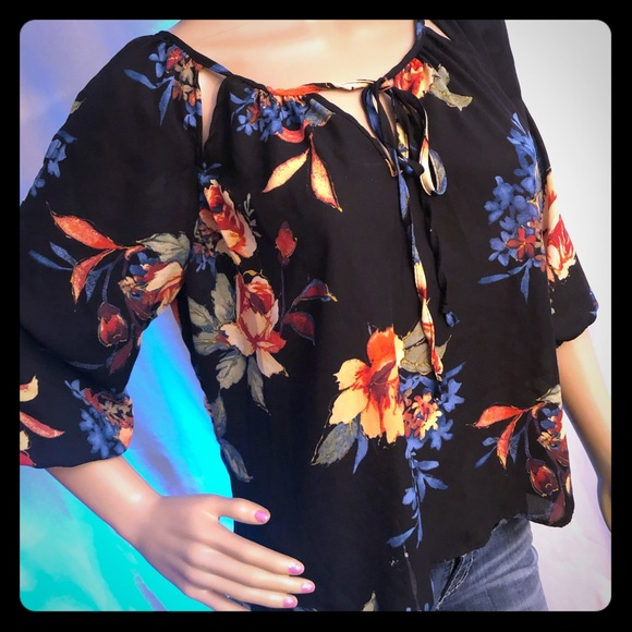 Wishful Park Tops - Floral 3/4 Sleeve Blouse